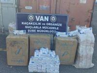 Van'da 5 bin paket sigara ele geçirildi
