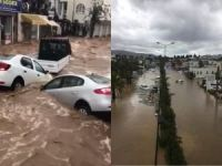 Bodrum'da sel hayatı felç etti