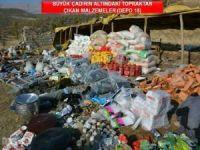 12 ton yaşam malzemesi imha edildi