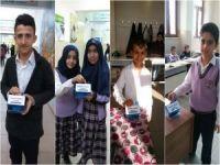 """Çınar'da 0rtaokul öğrencileri """"Yemen"""" için yardım topladı"""