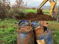 Lice'de bahçeye gömülü 100 kilogram esrar bulundu