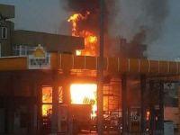 Akaryakıt istasyonunda yangın