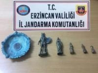 Erzincan'da tarihi heykeller ele geçirildi