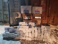 9 bin paket kaçak sigara ele geçirildi