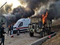 Türkiye'ye ait askeri üs yakıldı