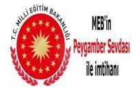 MEB'in Peygamber Sevdası ile imtihanı