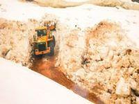 Batman'da kar nedeniyle köy ve mezra yolları kapandı