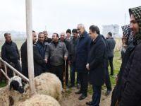 Hilvan Belediye Başkanı hayvan pazarı esnafını ziyaret etti