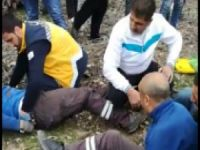 Yüksekten düşen 3 elektrik işçisi yaralandı
