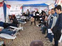 """Tahmazoğlu: """"Kızılay'a 14 bin 402 ünite kan bağışı gerçekleştirdik"""""""