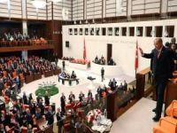 Cumhurbaşkanı Erdoğan HDP'li Buldan'ın konuşması esnasında Meclis'ten ayrıldı