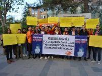 Çocuk istismarına tepki amacıyla Siirt'te basın açıklaması düzenlendi