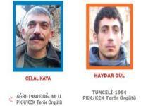 Öldürülen 2 PKK'lıdan biri mavi diğeri turuncu kategoride