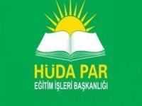 HÜDA PAR: Eğitim sistemi neslin imhasını değil ihyasını hedeflemelidir