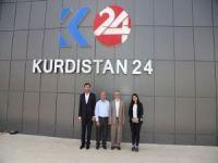 HÜDA PAR'dan K24 televizyonuna ziyaret