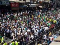 """Ürdünlüler """"Yüzyılın Anlaşması"""" ve """"Bahreyn Çalıştayı"""" planını protesto etti"""