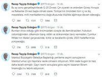 Cumhurbaşkanı Erdoğan'dan ilk seçim açıklaması