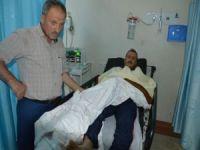Zehirli yılanın ısırdığı çiftçi hastaneye kaldırıldı