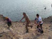Gölete giren kuzenler boğuldu