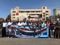 İslam karşıtı uygulamalara Diyarbakır Büyükşehir Belediyesi önünde kitlesel tepki