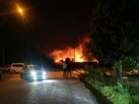 Sınırda çıkan yangın paniğe neden oldu