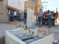 Tahrip edilen elektrik panoları polis eşliğinde kuruluyor
