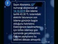 Ceylanpınar'da DEDAŞ'ın fatura hatırlatma SMS'ine tepki