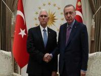 Cumhurbaşkanı Erdoğan Pence'i kabul etti