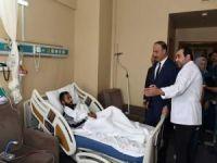 Şanlıurfa Valisi harekat sırasında yaralananları ziyaret etti
