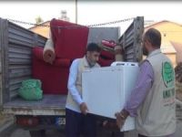 Bingöl Umut Kervanı'ndan muhtaç aileye ev eşyası yardımı