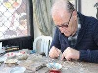 Hayatının 65 yılını telkâri sanatına verdi