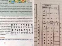 MEB İmam Hatip kitabında Uygur alfabesi diye İbrani alfabesi yayımlandı