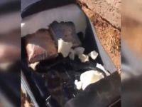 Patlayıcı tuzaklı motosiklet tespit edildi