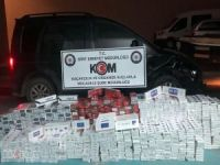 Siirt'te çok miktarda gümrük kaçağı sigara ele geçirildi