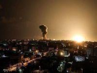İşgalci siyonistlerden Gazze'ye hava saldırısı