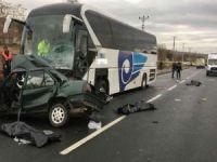 Baba ve 3 çocuğu kazada hayatını kaybetti