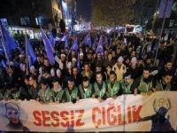 İstanbullular Doğu Türkistan için yürüdü