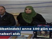 Evlat nöbetindeki anne 100 gün sonra mutlu haberi aldı