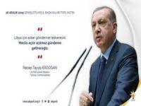 Erdoğan: Libya'ya asker gönderme tezkeresini Meclisimize sunacağız