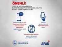 """AFAD'tan deprem sonrası """"kesintisiz iletişim"""" uyarısı"""