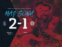 Trabzon, F.Bahçe'ye dize getirdi: 2-1