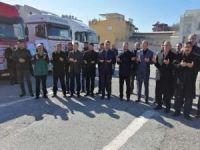 Adıyaman'dan İdlib'e 12 TIR'lık yardım
