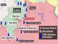 Suriye rejimi, Türkiye'nin gözlem noktalarının olduğu Serakib'e girdi