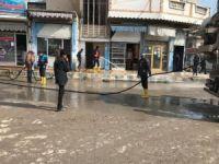Tel Abyad şehir merkezinde temizlik çalışmaları başladı