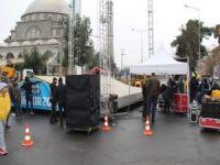 Diyarbakır İstasyon Meydanı dev Kudüs mitingi için hazır
