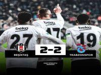 Trabzon-Beşiktaş yenişemedi: 2-2