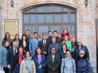 Yabancı ülkelerden Malatya'ya gelen öğretmenler, İl Milli Eğitim Müdürlüğünü ziyaret etti