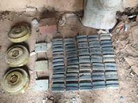 Barış Pınarı bölgesinde tespit edilen patlayıcılar imha edildi
