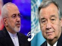 İran Dışişleri Bakanı Zarif ile BM Genel Sekreteri Guterres telefonda görüştü