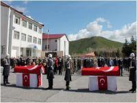 Bitlis'te hayatını kaybeden askerler için tören düzenlendi